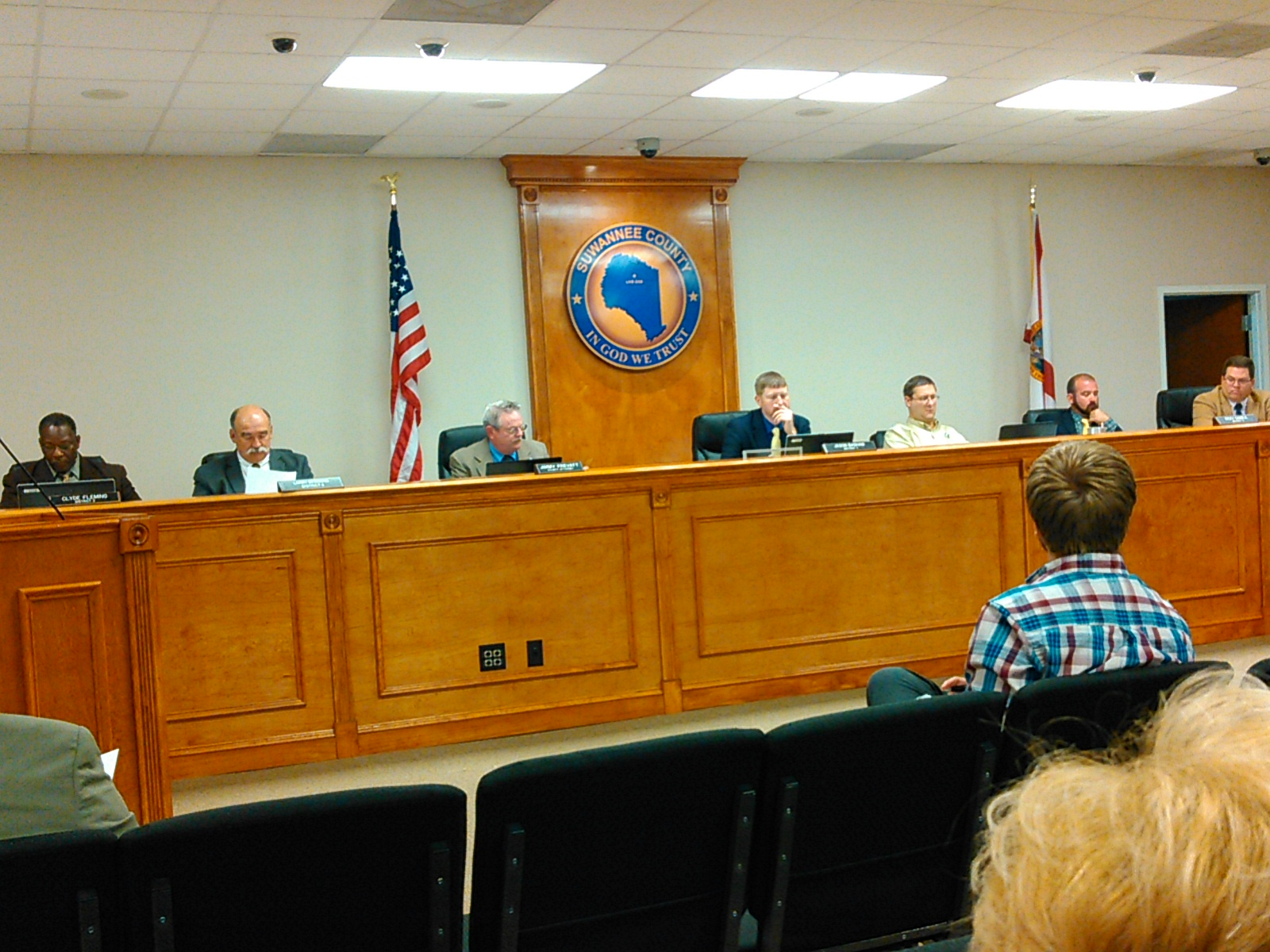 1600x1200 Commissioner Wainwright proposes to send the letter, in Suwannee BOCC votes 4:1 to ask Army Corps of Engineers to investigate Sabal Trail, by John S. Quarterman, for WWALS.net, 5 April 2016