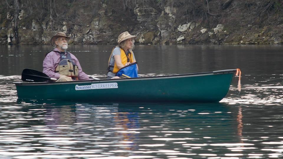 960x540 Heading downstream, in Suwannee Riverkeeper Vessel, by Tom H. Johnson, for WWALS.net, 14 January 2016