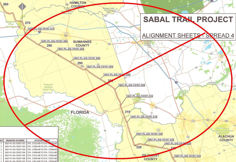 1530x1055 No Sabal Trail Spread 4, in Live oak rally, by John S. Quarterman, for WWALS.net, 12 January 2017
