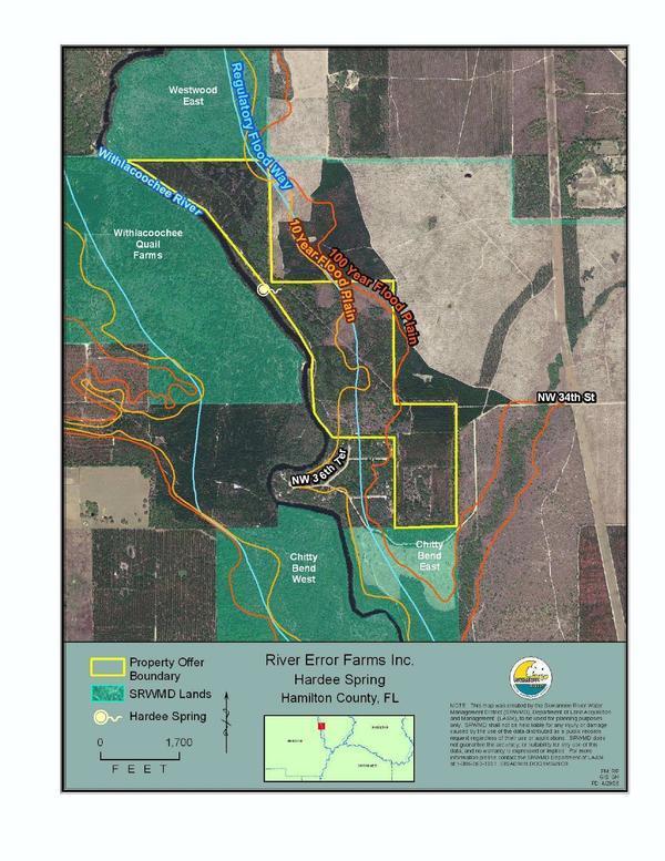Map: River Error Farms Inc., Hardee Spring, Hamilton County, FL