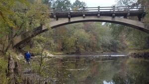 Missing railing, 13:22:16,, Spook Bridge 30.7905873, -83.4518152