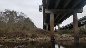 Quitman (US 84) Gauge, 12:43:21,, Below the downstream bridge 30.7900038, -83.4585197