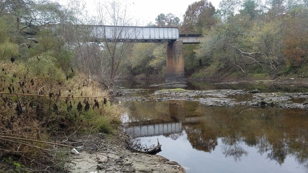 RR bridge, 12:41:23,, Below the downstream bridge