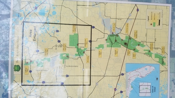 Area enlarged, Maps