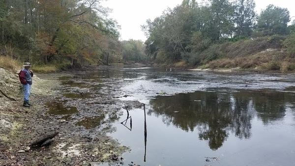 Small rapids downstream, 13:26:44,, Underneath