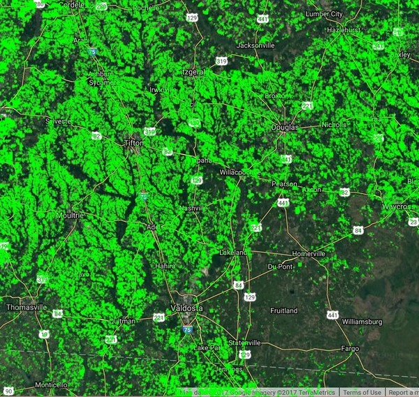 Basin in Georgia, Maps