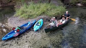 Canoe heading out, 15:35:50,, Landowners 30.6411076, -83.3367886