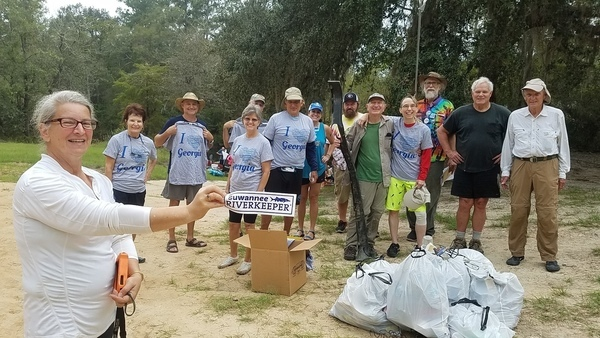 Banner and fourteen picker-uppers, 09:55:21,, Georgia Adopt-A-Stream Cleanup