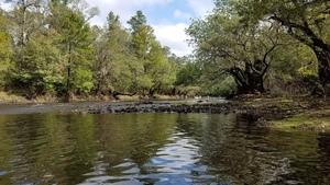 Rocks half across, 11:37:43,, Tween Creek Shoals 30.6557356, -83.3645934