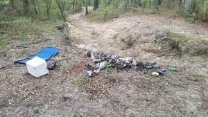 Closeup trash, 09:29:12,, Georgia Adopt-A-Stream Cleanup 30.6753700, -83.3941400