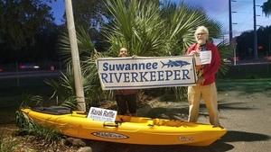 Chris Newton and his new kayak, Palmettos