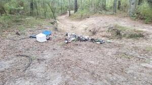 Trash in the gully, 09:29:08,, Georgia Adopt-A-Stream Cleanup 30.6753300, -83.3941200