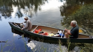 Canoe from spring into river, 15:36:07,, Landowners 30.6411076, -83.3367886