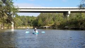 Gretchen and ghost ship under bridge, 16:32:34,, Horn Bridge 30.6355513, -83.3126804