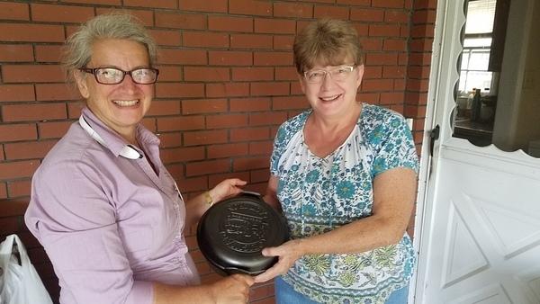 Margaret Lawhun of Brooks County, GA, Skillet raffle winner