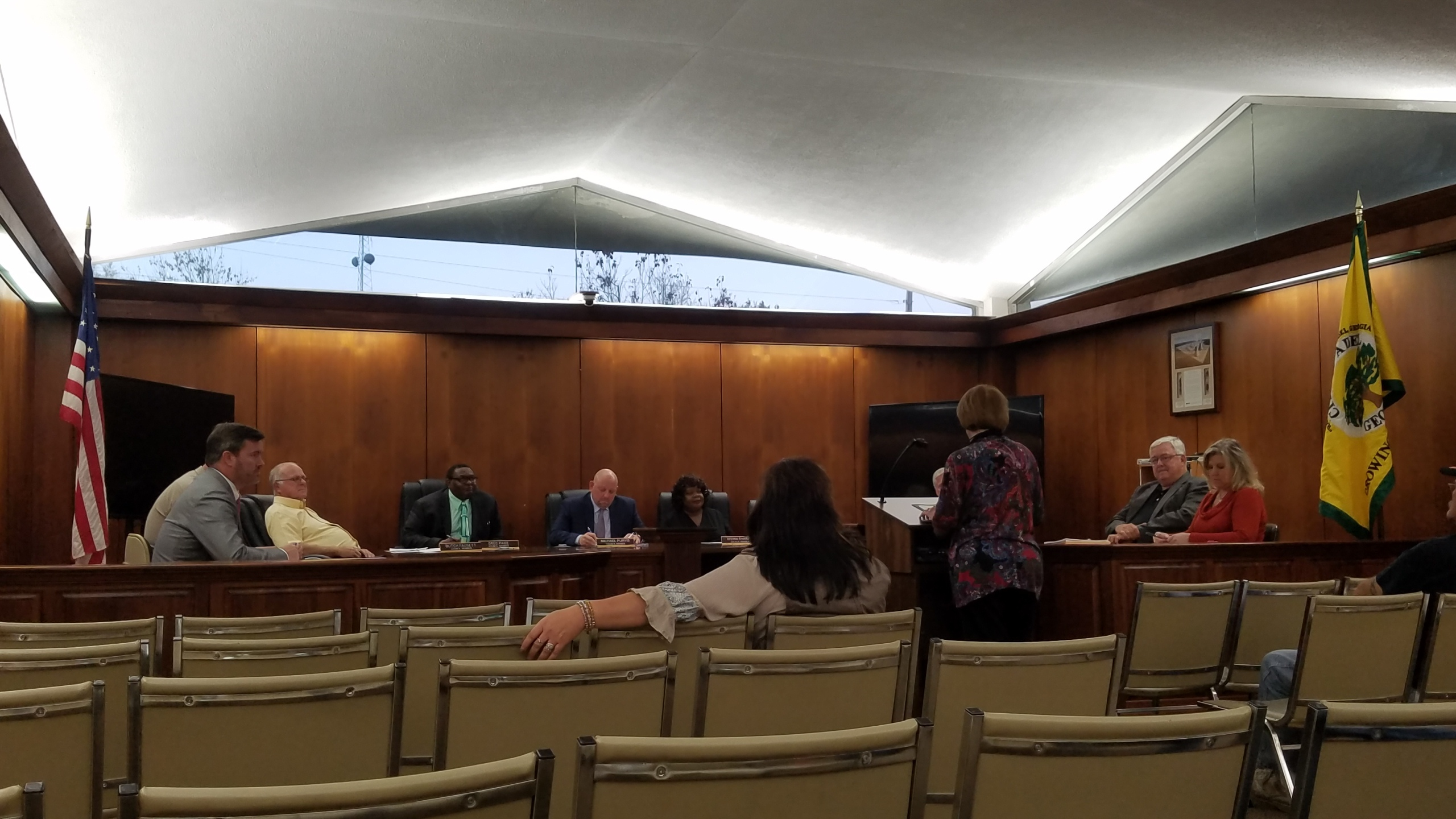 2560x1440 Mayor, Council, Staff, Meeting, in Adel City Council, by John S. Quarterman, for WWALS.net, 4 December 2017