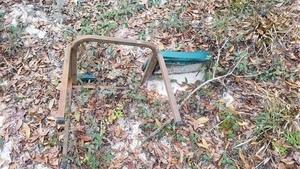 Trash chair closeup, 16:51:05,, Heading back 30.8623900, -83.3224400