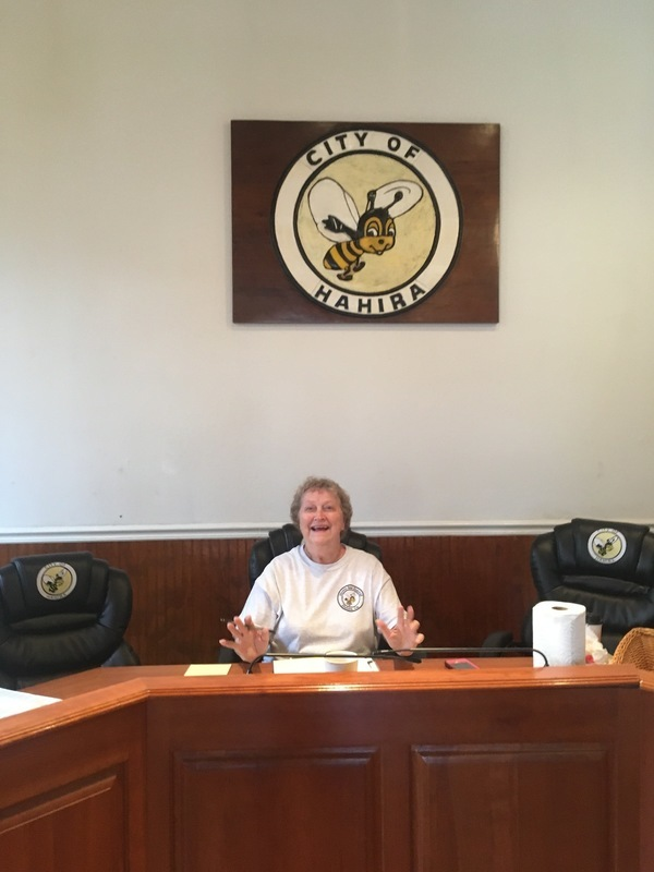 Lana Hall presiding in the Courthouse, The Halls