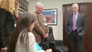 Movie: UFL student Carel Lajara against fracking to FL Sen. Keith Perry, Sen. Keith Perry
