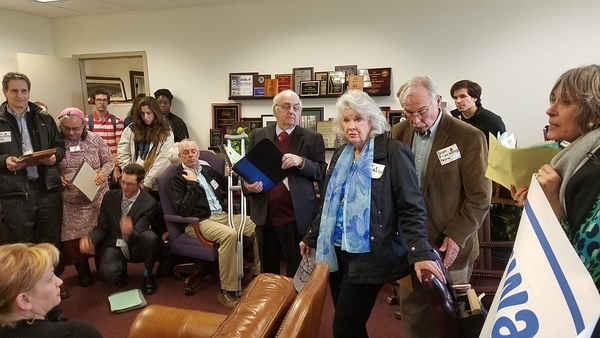 Gale Dickert, ban fracking, Sen. Montfords office