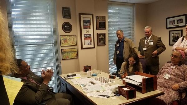 Rep. Watson, Mike Roth, Vicki Machado, Amy Datz, Rep. Clovis Watson Jr.