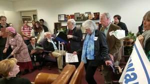 Movie: Kristin Rubin against phosphate mine, for solar, to Sen. Montford staffer, Sen. Montfords office