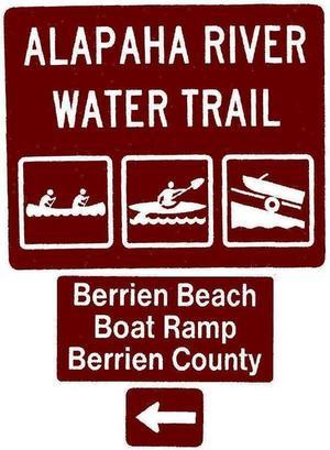Berrien Beach Boat Ramp, Berrien County, Left, Posts