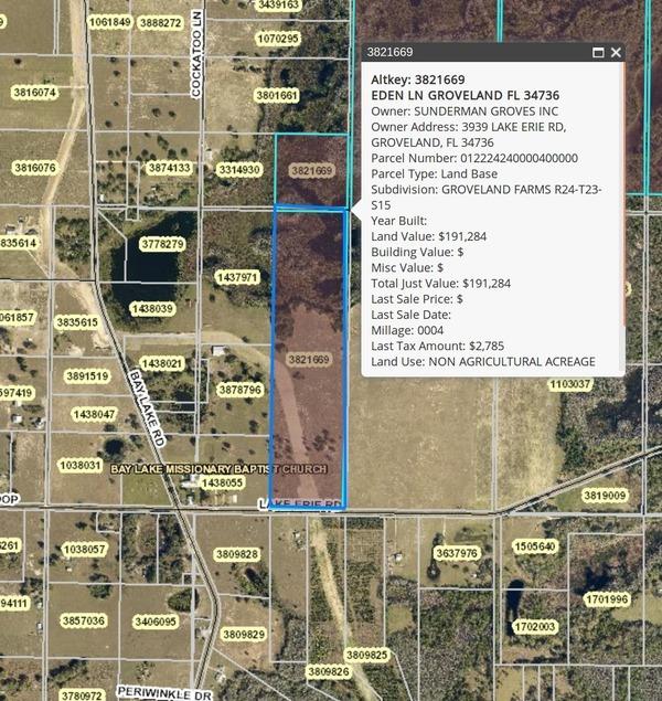 Part of Parcel 3821669, 40 acres