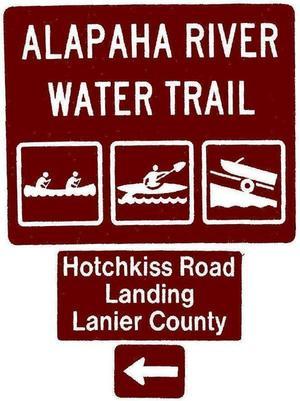 Hotchkiss Road Landing, Lanier County, Left, Posts