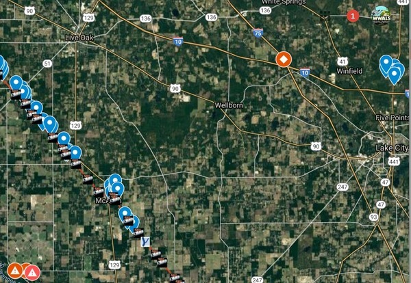 LNG truck 14 miles from Sabal Trail, Map