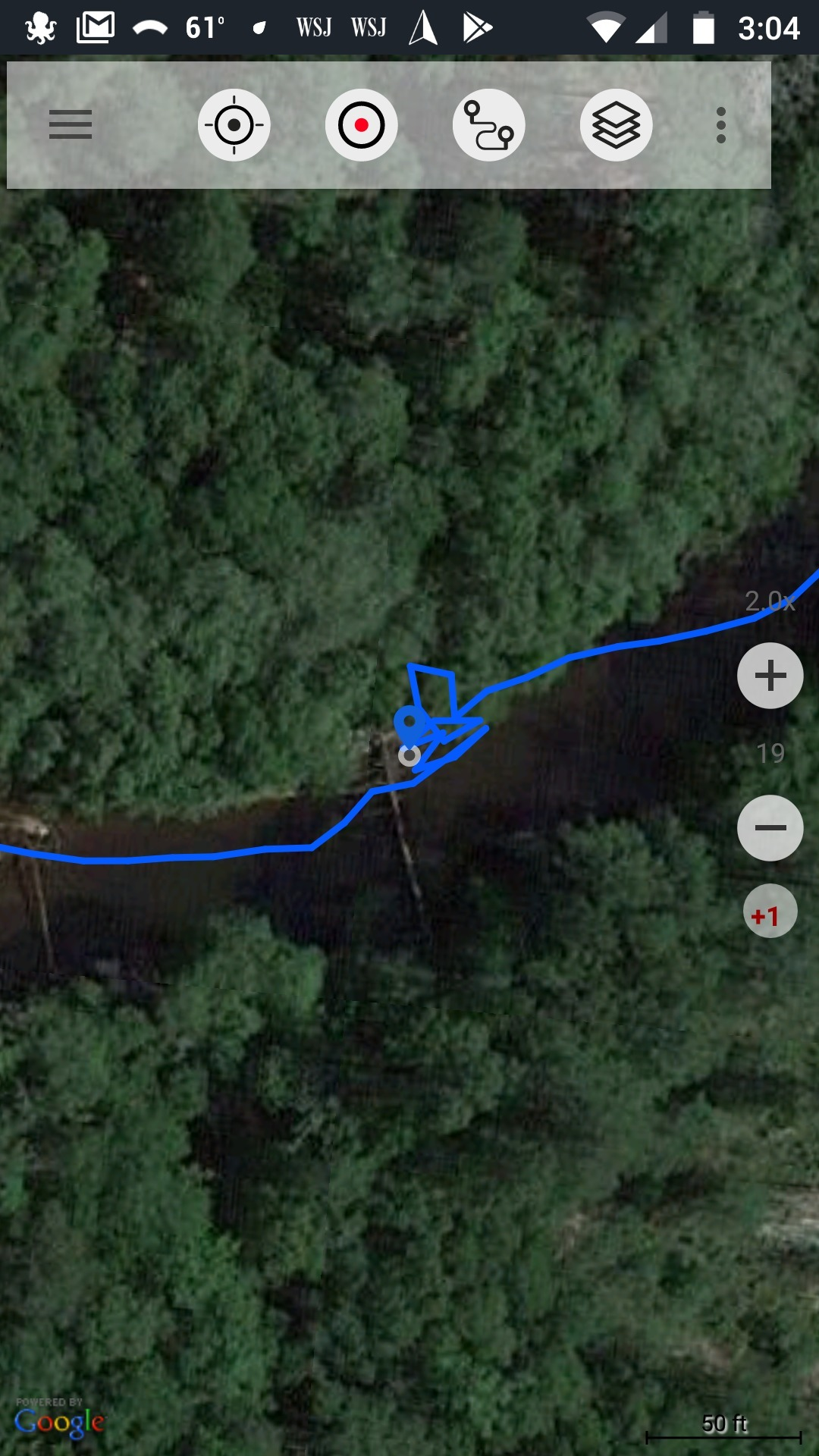 1080x1920 Deadfall Found, Maps, in Deadfall, Alapaha River, between Berrien Beach and Lakeland, by John S. Quarterman, for WWALS.net, 15 April 2018