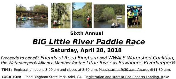 What, When, Where, Logo: BIG Little River Paddle Race