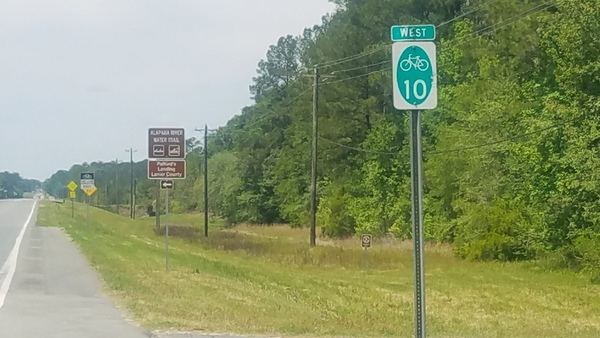 Wrong side, Westbound sign