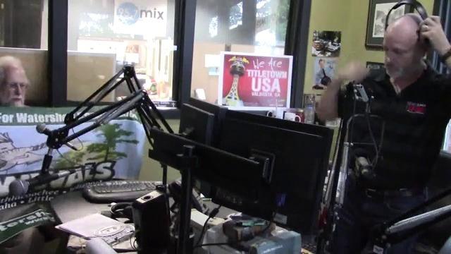 640x360 Suwannee Riverkeeper on Steve Nichols radio 105.9FM WVGA, Stills, in Video: BLPR and Neighbor Steve Nichols, by John S. Quarterman, for WWALS.net, 26 April 2017