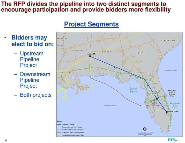 Project Segments, Map