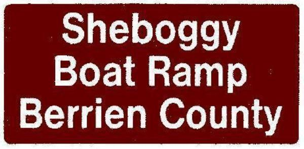 Sheboggy Boat Ramp, Berrien County, Sign