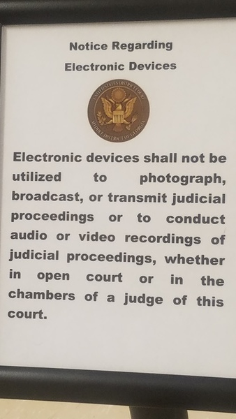 Electronic devices shall not be utilized