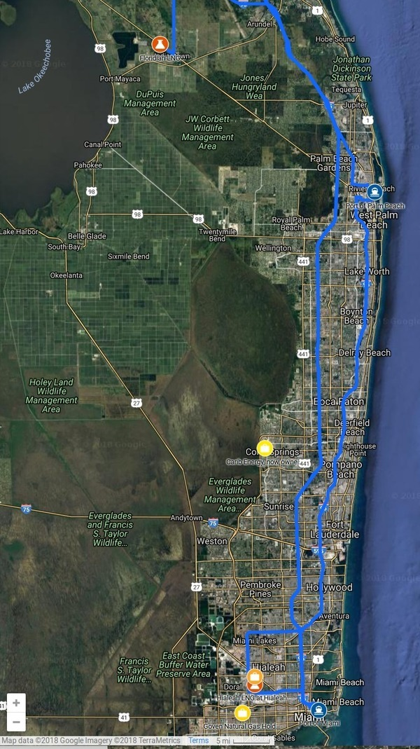 LNG in Southeast-Florida, LNG and ports