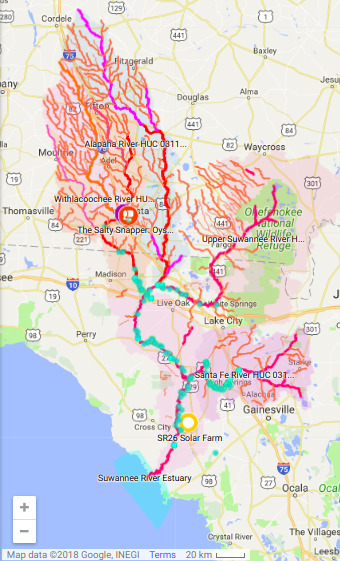 Suwannee River Basin, Maps