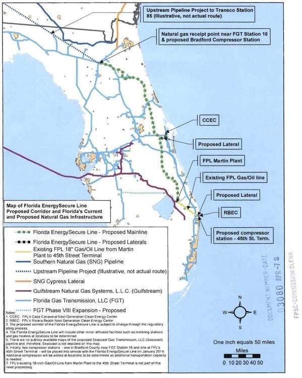 FPSC Docket 20070231, Map