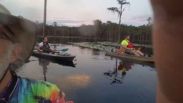 Loaner boat with new paddler, On the water