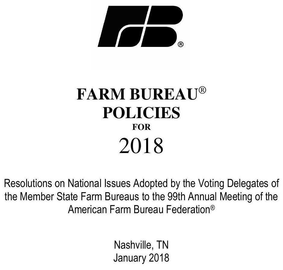 941x898 Title, Policy Book, in Farm Bureau Policies 2018, by Farm Bureau, for WWALS.net, 9 January 2018
