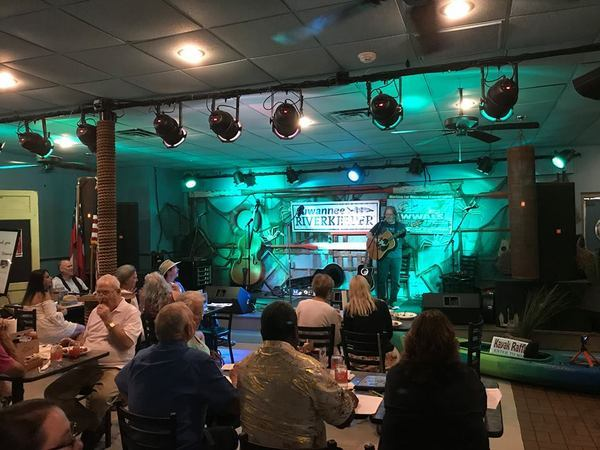 Emmett Carlisle performing at the 2018 Suwannee Riverkeeper Songwriting Contest