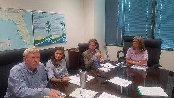 Marty Baum explaining, FL Waterkeepers at FDEP