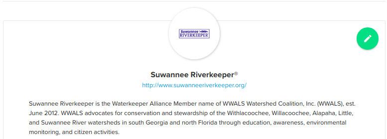 Suwannee Riverkeeper group, Water Reporter