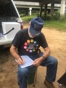 Dave Hetzel keeping track, During