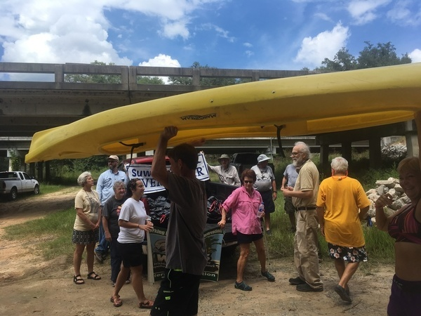 600x450 Beware of boat, After, in WWALS Cleanup at Sheboggy Boat Ramp, US 82, Alapaha River, by Gretchen Quarterman, for WWALS.net, 9 September 2018