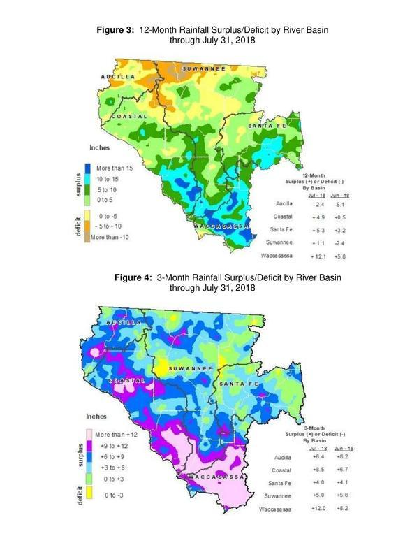 12-month and 3-month rainfall, Maps