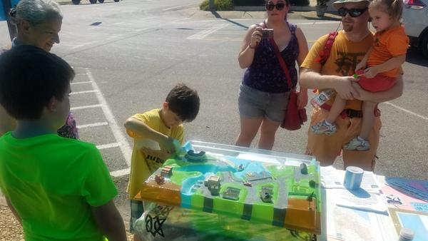Child making rain, Enviroscape