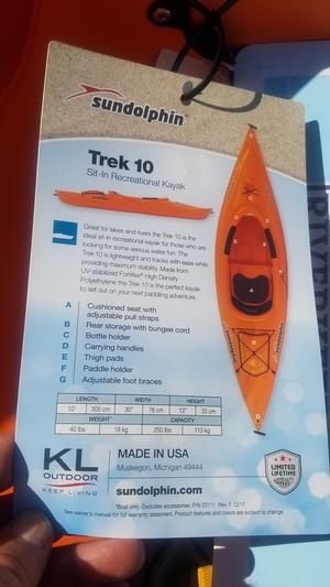 Sundolphin Trek 10, Kayak